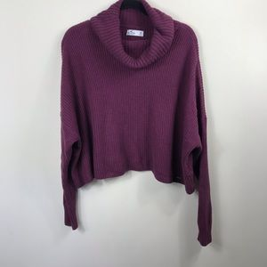 c95ff61b79a Hollister Cropped Cowl Neck Sweater Size Medium